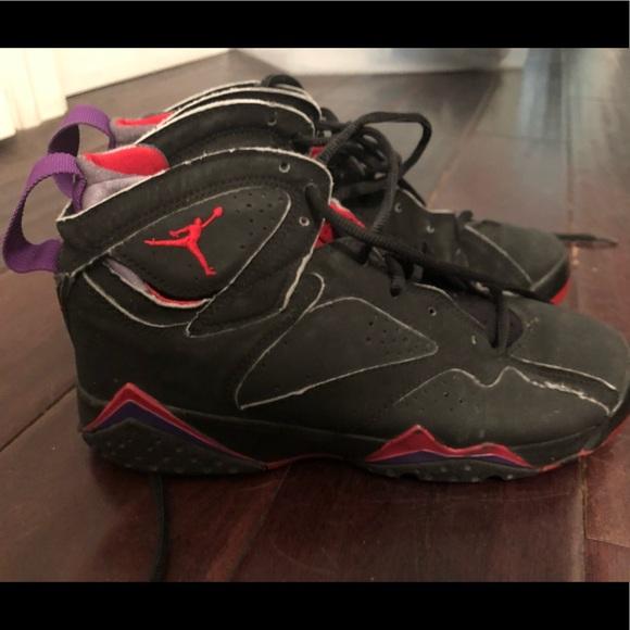 san francisco 3b08a 9393f Air Jordan 7 raptor purple red / black size 5